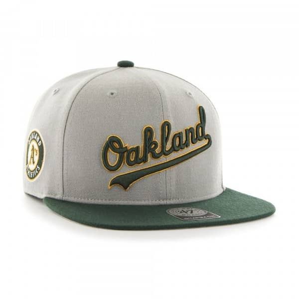 brand new 78895 0ef9e  47 Brand Oakland Athletics Script Sure Shot Snapback MLB Hat   TAASS.com  Fan Shop