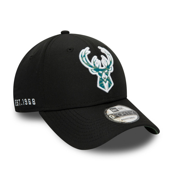 Milwaukee Bucks Est. 1968 Hook New Era 9FORTY NBA Cap