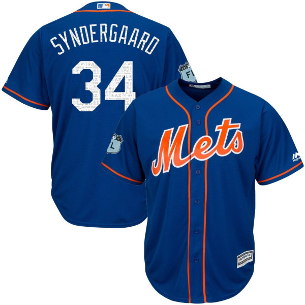 Noah Syndergaard #34 New York Mets 2017 Spring Training Cool Base MLB Trikot