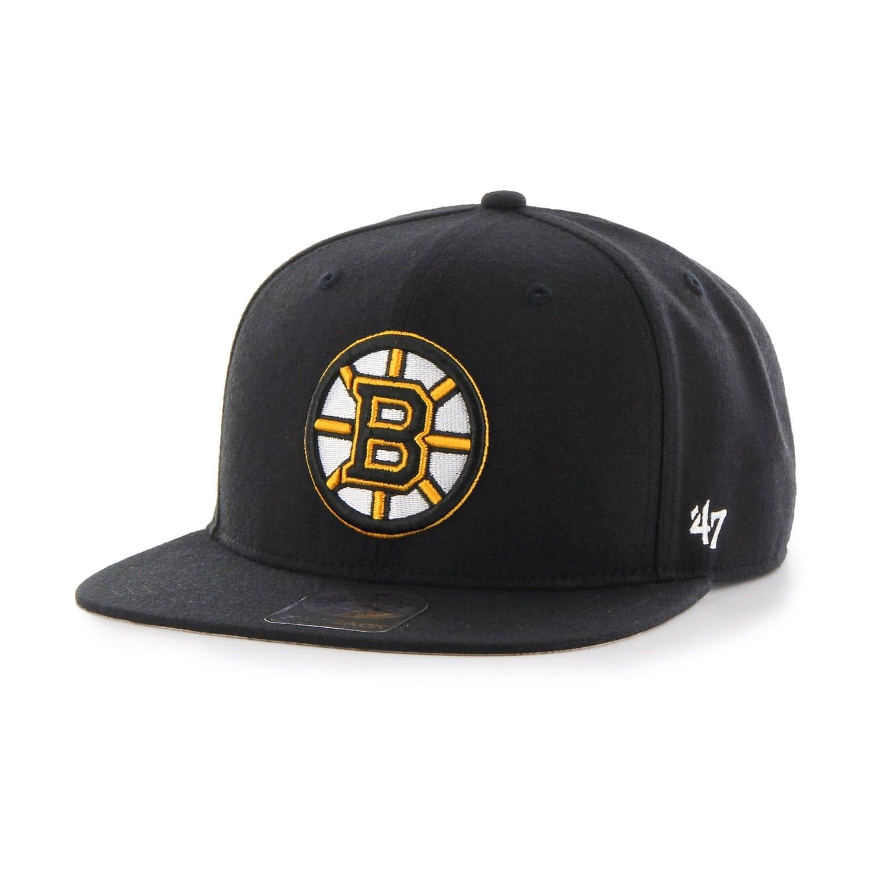 62b923a0ce7b84 '47 Brand Boston Bruins No Shot Captain Snapback NHL Cap Black | TAASS.com  Fan Shop