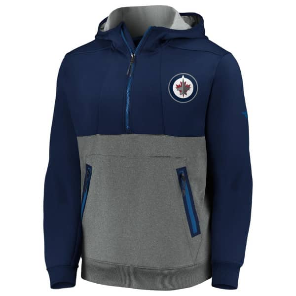 Winnipeg Jets 2020/21 NHL Fanatics Authentic Pro Travel & Training Tech Hoodie