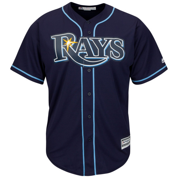 new arrivals 4b9ce 60ee0 Majestic Tampa Bay Rays Cool Base MLB Jersey Alternate Navy   TAASS.com Fan  Shop