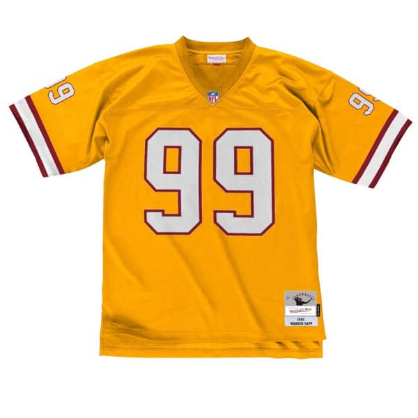 Warren Sapp #99 Tampa Bay Buccaneers Mitchell & Ness Legacy Throwback NFL Trikot Gelb