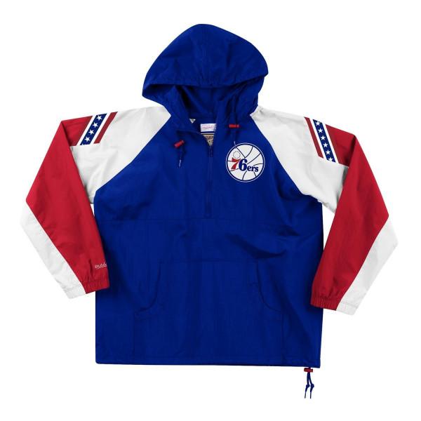 Philadelphia 76ers Half-Zip Anorak Jacke