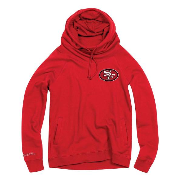 San Francisco 49ers Funnel Neck Pullover NFL Hoodie (DAMEN)