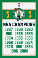 Boston Celtics 17-Time NBA Champion Basketball Poster RP6709