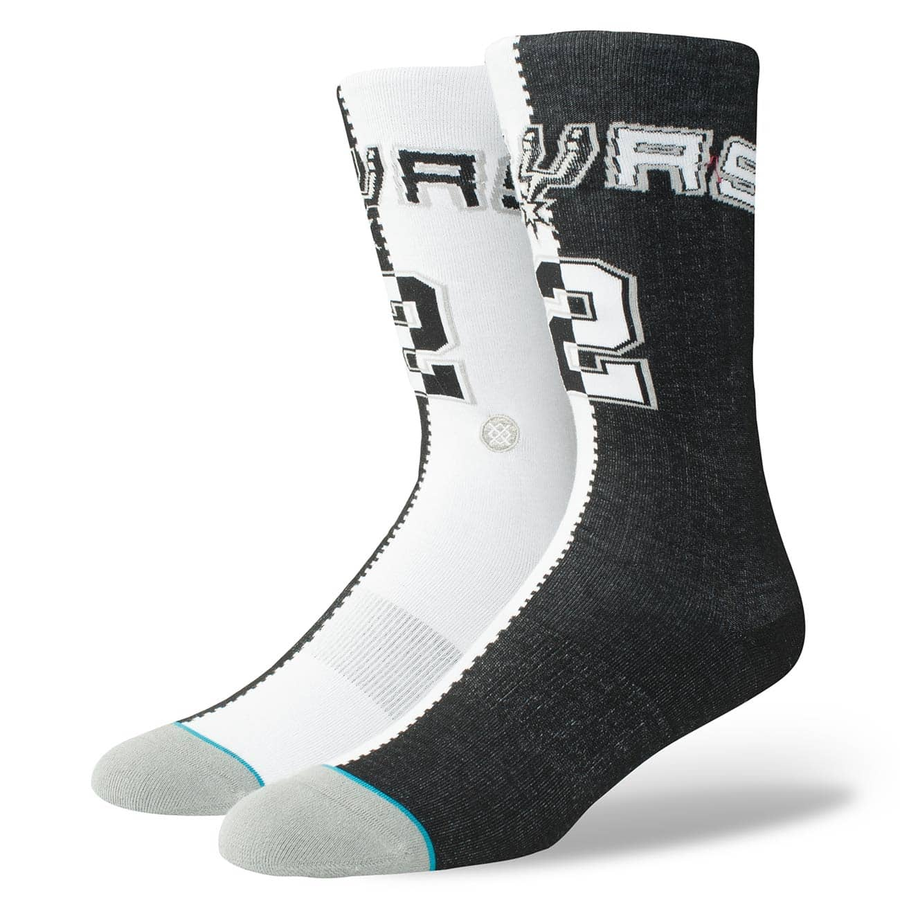 89d7951a47b Stance Kawhi Leonard San Antonio Spurs Split Jersey NBA Socks