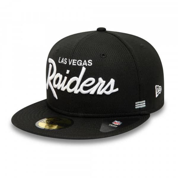 Las Vegas Raiders Unofficial 2020 NFL Sideline New Era 59FIFTY Fitted Cap Home