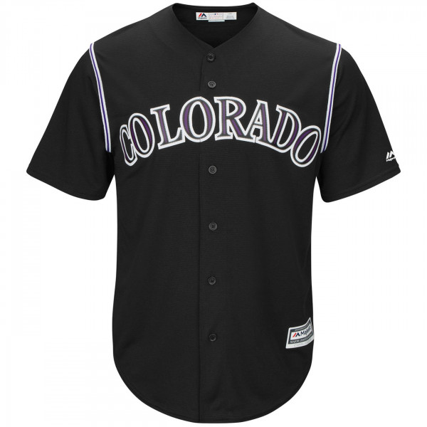 Colorado Rockies Cool Base MLB Trikot Alternate Schwarz