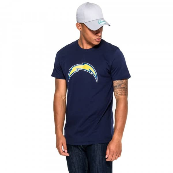 Los Angeles Chargers Team Logo Football NFL T-Shirt Navy