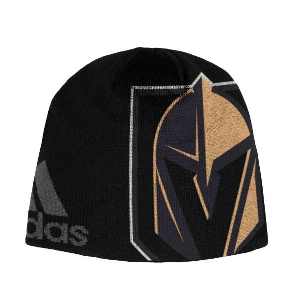 adidas Vegas Golden Knights Jacqurad Beanie NHL Knit Hat  17a392da8