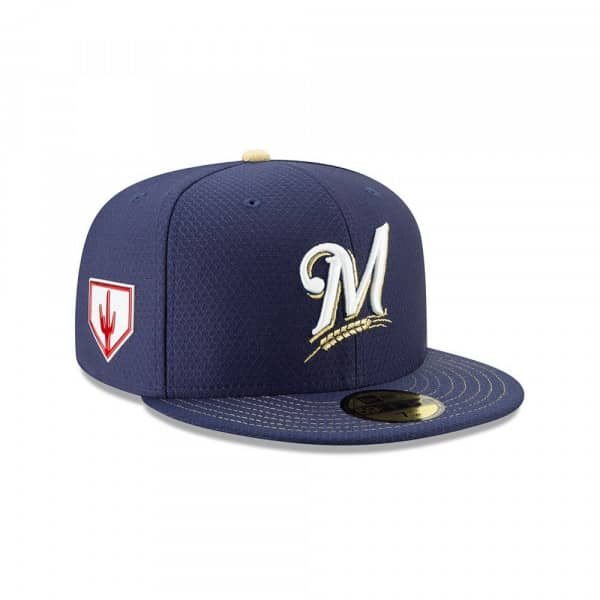 New Era Milwaukee Brewers 2019 Spring Training 59FIFTY Fitted MLB Cap Game   e6860f5a213b
