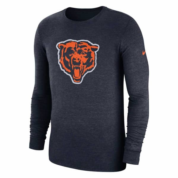 Chicago Bears Historic Crackle NFL Long Sleeve Shirt