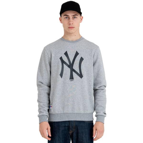 New York Yankees Logo Crewneck MLB Sweatshirt Grau