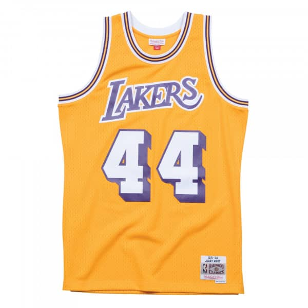 18ebd9c6a88 Mitchell & Ness Jerry West #44 Los Angeles Lakers 1971-72 Swingman NBA Jersey  Yellow | TAASS.com Fan Shop