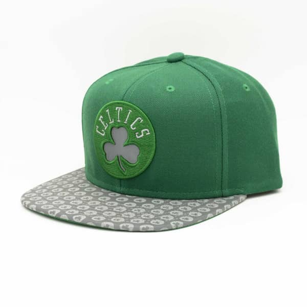 new concept b41bf 19326 Mitchell   Ness Boston Celtics Primary Reflect Snapback NBA Cap   TAASS.com  Fan Shop