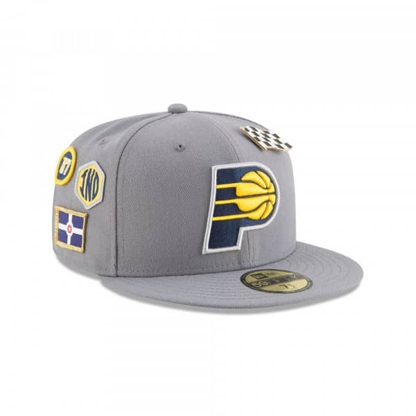 new style ab865 c06c5 New Era Indiana Pacers 2018 NBA Draft 59FIFTY Fitted Cap Storm Grey    TAASS.com Fan Shop