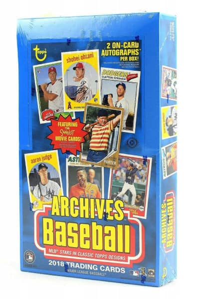 2018 Topps Archives Baseball Hobby Box MLB