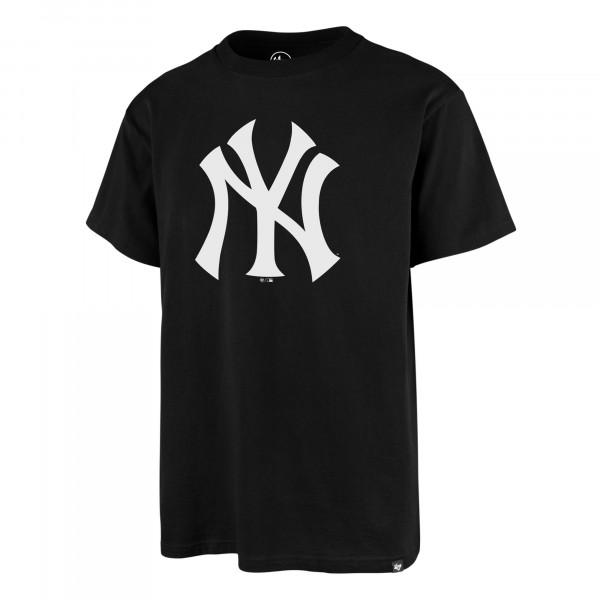 New York Yankees Team Logo '47 Echo MLB T-Shirt Schwarz