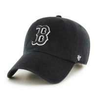 Boston Red Sox Black & White '47 Clean Up Adjustable MLB Cap