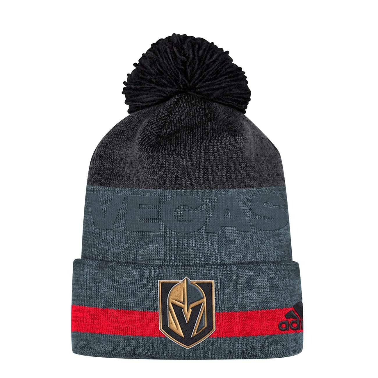 373626342f7 adidas Vegas Golden Knights Juliet Cuffed Beanie NHL Knit Hat ...
