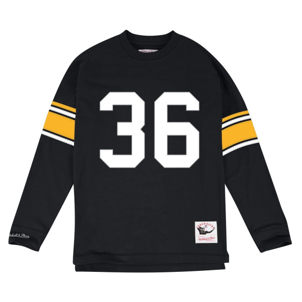 901009422 Mitchell   Ness Jerome Bettis  36 Pittsburgh Steelers Throwback NFL Long  Sleeve Shirt