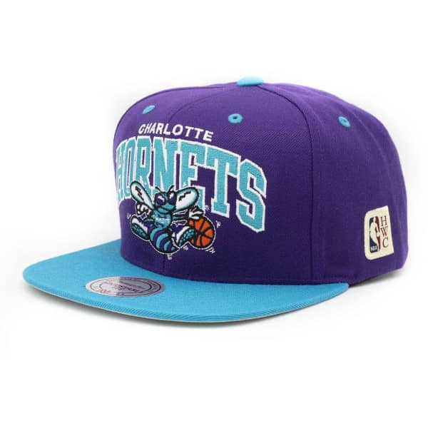 buy online e69c9 89854 Mitchell   Ness Charlotte Hornets Team Arch Snapback NBA Cap 2.0    TAASS.com Fan Shop