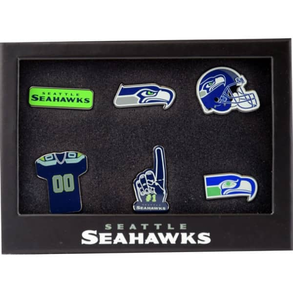 Seattle Seahawks Teamlogo NFL Anstecker 6er Set