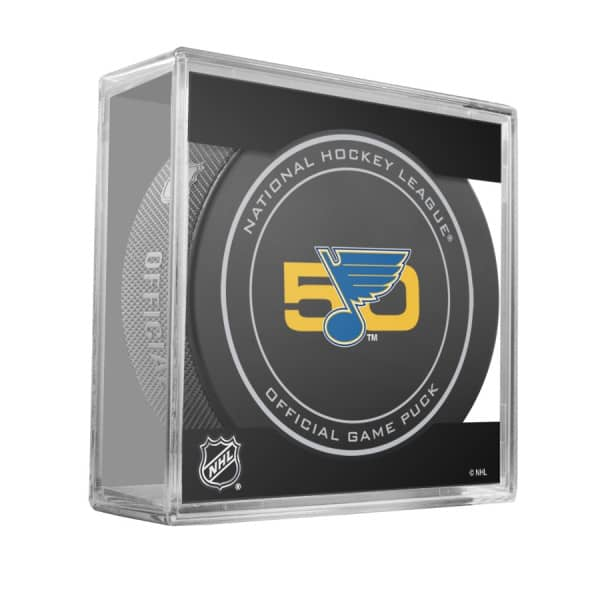 St. Louis Blues 50th Anniversary NHL Official Game Puck