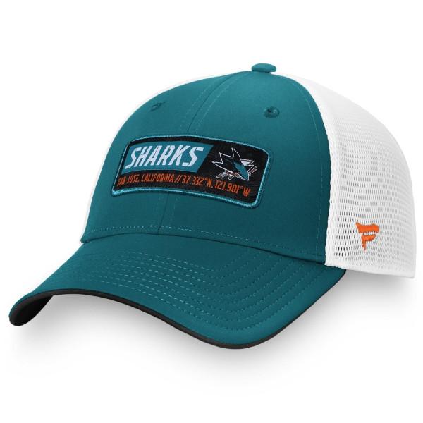 San Jose Sharks Iconic Defender Fanatics Adjustable NHL Trucker Cap