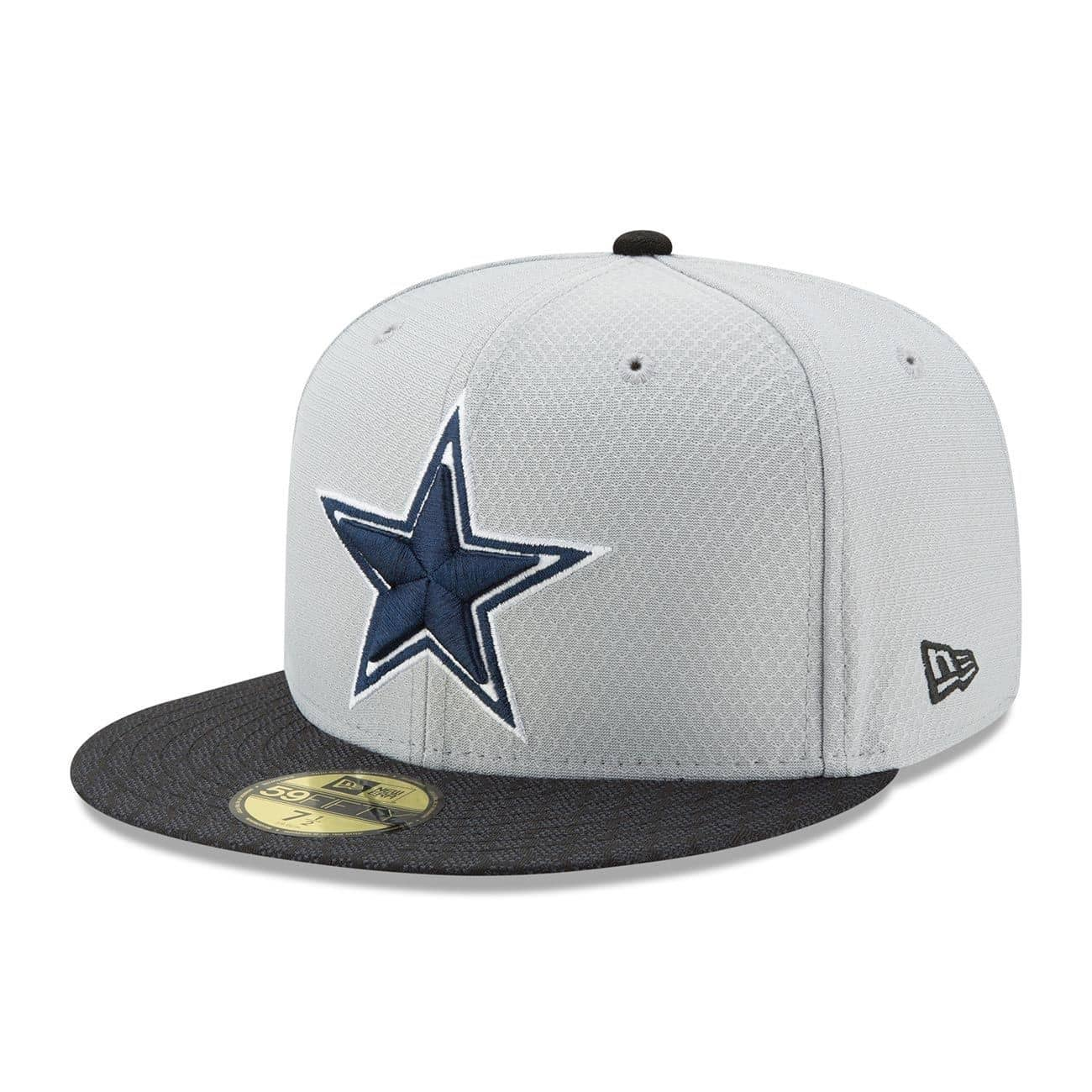 47bf14d28 New Era Dallas Cowboys 2017 Sideline GRAPHITE NFL 59FIFTY Fitted Cap ...
