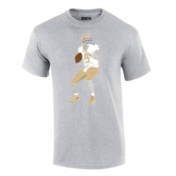 Drew Brees #9 New Orleans Saints Silhouette NFL T-Shirt