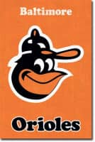 Baltimore Orioles Retro Team Logo Baseball MLB Poster RP5124