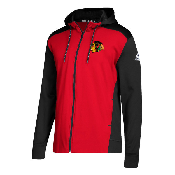 Herren adidas Chicago Blackhawks NHL Full Zip Hoodie