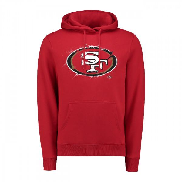 San Francisco 49ers Splatter NFL Hoodie