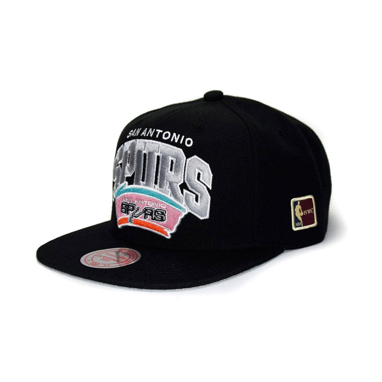 wholesale dealer 269c9 59723 Mitchell   Ness San Antonio Spurs Arch HWC Patch Snapback NBA Cap Black    TAASS.com Fan Shop