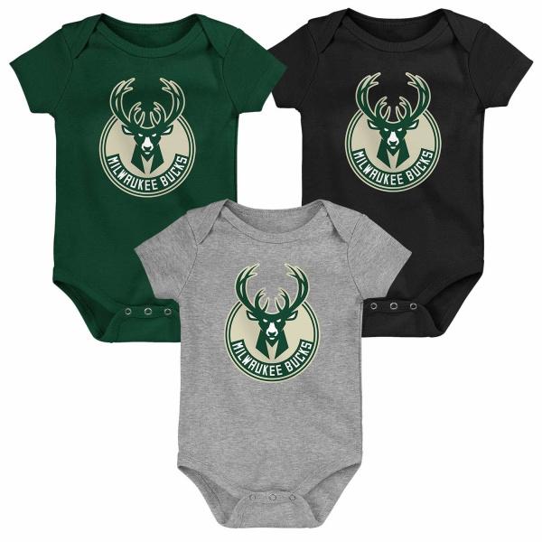 Milwaukee Bucks Born to Win NBA Kleinkinder Body-Set (3er-Pack)