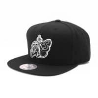 Seattle Sonics Black & White Wool Solid Snapback NBA Cap
