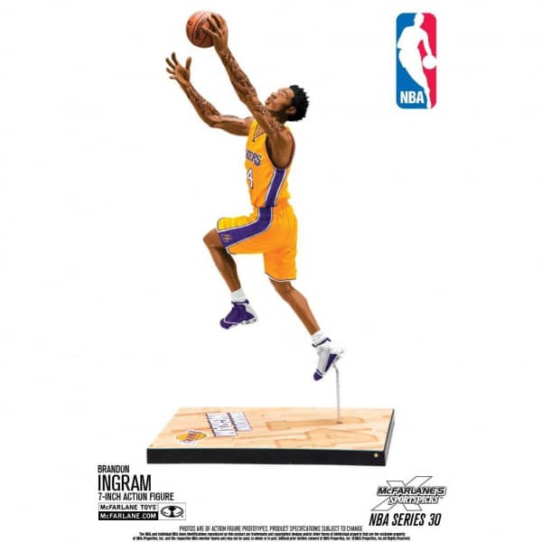 outlet store c9318 aae85 McFarlane NBA Series 30 Brandon Ingram Los Angeles Lakers Basketball Figure  (16 cm)   TAASS.com Fan Shop