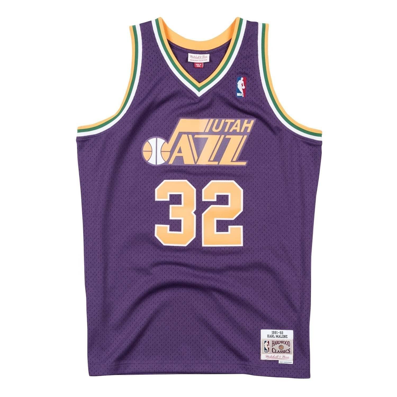 a3f4301c0 Mitchell   Ness Karl Malone  32 Utah Jazz 1991-92 Swingman NBA Jersey  Purple