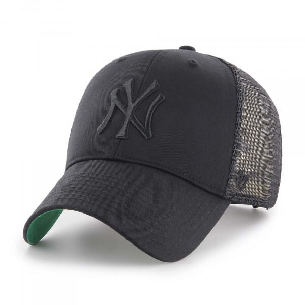 New York Yankees Black on Black '47 MVP Branson MLB Trucker Cap