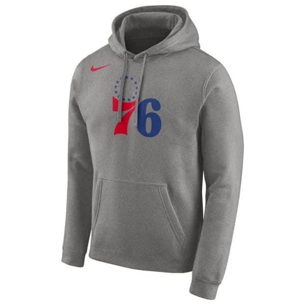 Philadelphia 76ers Team Logo NBA Hoodie Grau