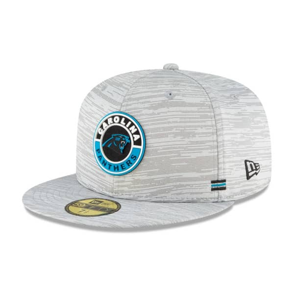 Carolina Panthers Official 2020 NFL Sideline New Era 59FIFTY Fitted Cap Road