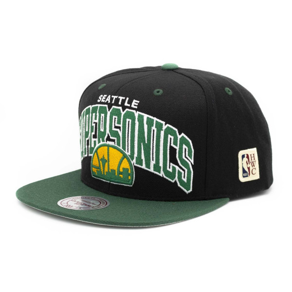 new products 41179 f20c6 Mitchell   Ness Seattle SuperSonics Team Arch Snapback NBA Cap 2.0   TAASS.com  Fan Shop