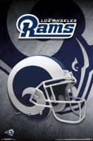 Los Angeles Rams Helmet NFL Poster