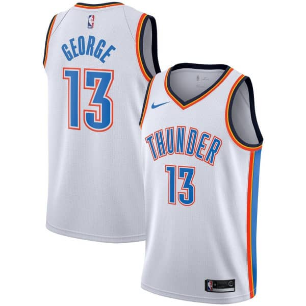 new style 4ea23 a491e Paul George #13 Oklahoma City Thudner Icon Swingman NBA Jersey