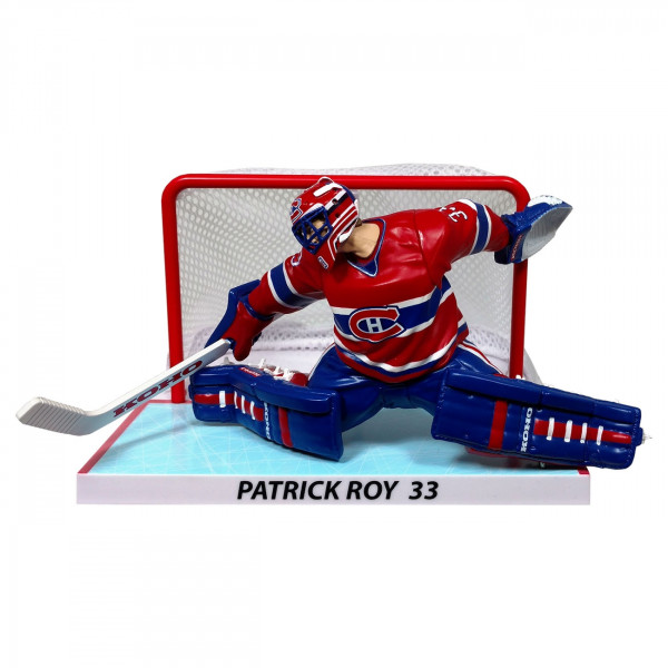 1993/94 Patrick Roy Montreal Canadines NHL Figur mit Tor (16 cm)