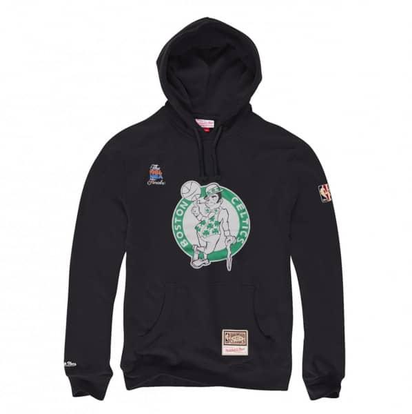 Boston Celtics Worn Logo Mitchell & Ness NBA Hoodie Schwarz