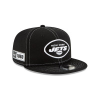 New York Jets 2019 NFL Sideline Black 9FIFTY Snapback Cap Road