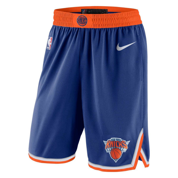 New York Knicks Icon Swingman NBA Shorts Blau